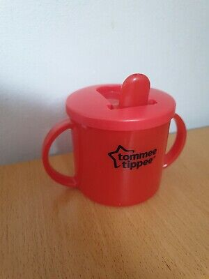TOMMEE TIPPEE ESSENTIAL FIRST BEAKER  Free Flow Original 4m+ FREE POSTAGE Red • 7.99£