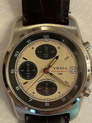$ CDN106.14 • Buy Vintage Yema Adventurer Chronograph Made By Seiko In The 90's, Sapphire Crystal