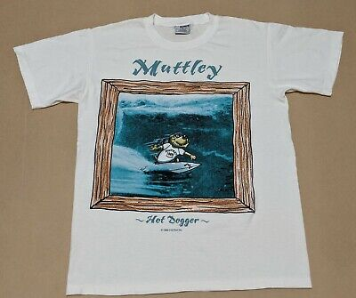 Vintage 96 Muttley Surfing 'Hot Dogger' Hanna Barbera T-shirt Bonds AUS Size M • 21.96£