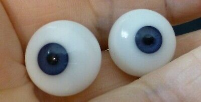 £15.90 • Buy 13mm BLOWN GLASS DOLL EYES, GLASS EYES For ANTIQUE DOLL, Dollmaking