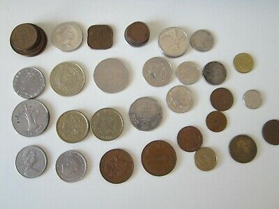 A Collection Of 39 Foreign Coins-various See Photos • 8.99£