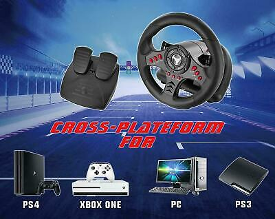 $260.97 • Buy Racing Steering Wheel Pedal Set For Playstation 4 PS4 Pro Slim Xbox One S PC PS3