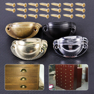 AU11.49 • Buy 10x Antique Drawer Cabinet Furniture Cupboard Kitchen Door Shell Pull Handle Cup