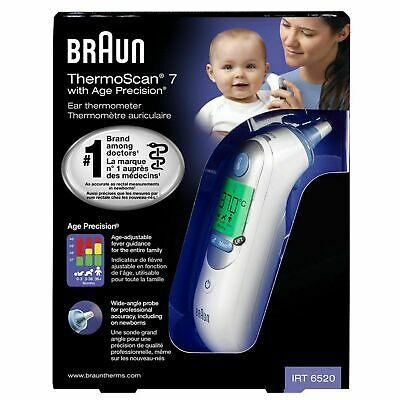 AU152.65 • Buy Braun ThermoScan 7 IRT6520 Digital LCD Ear Thermometer For All Ages Kid/adult