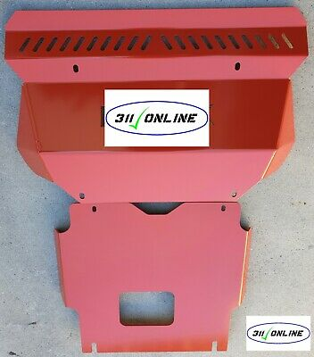 AU167.50 • Buy Toyota Hilux 2005 To 2015 Front & Rear Bash Plate Set 4mm Mild Steel In  RED