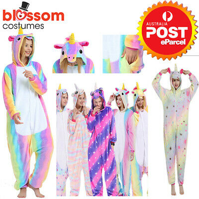 AU23.95 • Buy Rainbow Unicorn Onesie0 Adult Unisex Kigurumi Cosplay Costume Pyjamas Pajamas