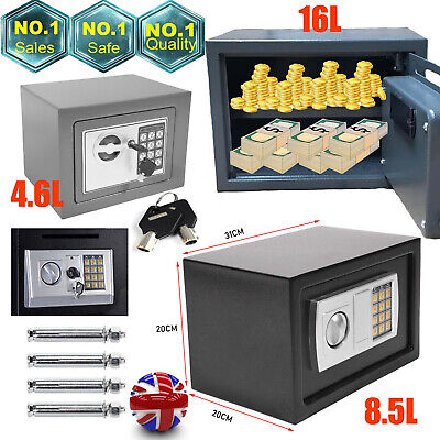 £26.10 • Buy Thick Electronic Password Security Safe Money Cash Deposit Box Office Home/Screw