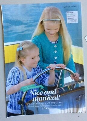 Knitting Pattern Bundle Child's Cardigan, Sweater, Cropped Top, From Magazines • 1.10£