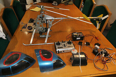 Vintage  MFA SPort 500 Petrol RC Helicopter With All The Controls And Chargers. • 365£
