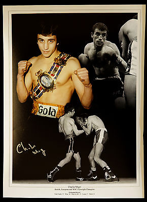 £14.99 • Buy  New Charlie Magri Boxing Signed 12x16 Montage