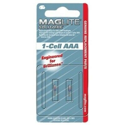 Maglite Solitaire 1-Cell AAA Genuine Replacement/Spare Bulbs - Pack Of 2 • 5.49£