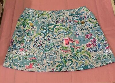 $35 • Buy Lilly Pulitzer Madison Stretch Skort What A Lovely Place Medium EUC