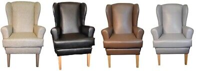 £215 • Buy Orthopaedic High Back Winged Chair Faux Leather Grey Brown Black Cream