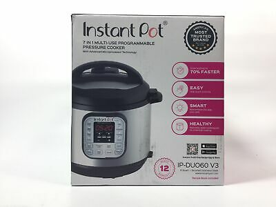 $44.72 • Buy Instant Pot DUO60 6 Qt 7-in-1 Multi-Use Programmable Pressure Cooker, Slow Cooke
