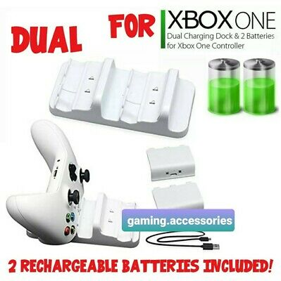 $14.65 • Buy XBOX ONE Charging Dock Station Controller Charger + 2 Battery Pack (white Color)