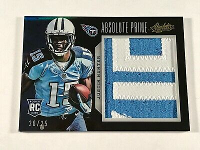 $4.99 • Buy 2013 Absolute Prime Jersey Patch /25 - Justin Hunter Rc #216 - Sweet