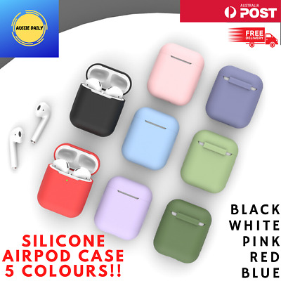 AU4.95 • Buy For Apple AirPods Case 1 & 2 LED Visible Silicone Cover Slim Skin Anti Falling
