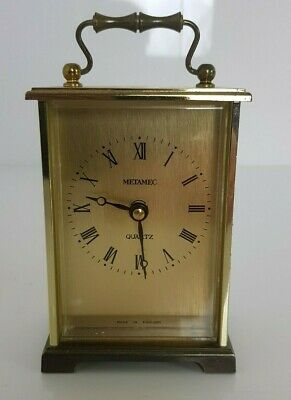 Vintage METAMEC Quartz Carriage Clock 1970s Battery Operated Made In England • 14.99£