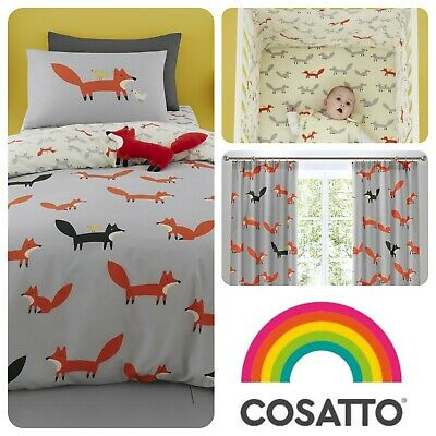 Cosatto MISTER FOX Baby Toddler Bedroom Set Duvet Cover Set, Grow Bag & More • 25£