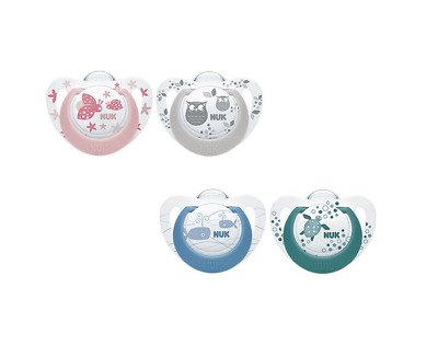 £9.95 • Buy NUK Newborn Baby Girl Boy Soother Dummy 2 Pack GENIUS Silicone Age 6-18 Months
