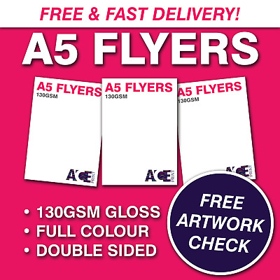 £39 • Buy A5 Flyers/Leaflets | 130gsm Gloss | Full Colour | Double Sided