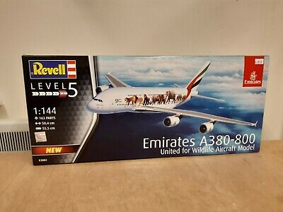 Revell 1:144 03882 Airbus A380-800 Emirates  Wild Life  Model Aircraft Kit • 27.50£