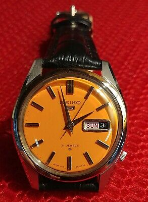 $ CDN699 • Buy Seiko 5 Reference 6119 8021 Vintage Japanese Men 37mm Automatic 1978 Watch MY210