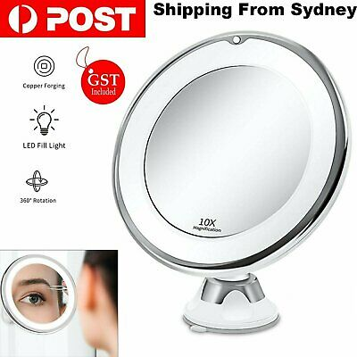 AU21.99 • Buy 10x Magnifying Makeup Cosmetic Beauty Bathroom Mirror With LED Light 360° Spin