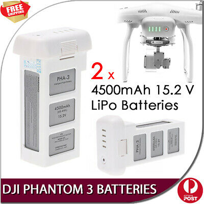 AU229 • Buy New DJI Phantom 3 Intelligent Flight 2 X 4500mAh 15.2V LiPo Rechargeable Battery