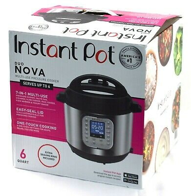 $42.99 • Buy READ GENUINE Instant Pot Duo Nova 6-Quart 7-in-1 Multi-Use Pressure Cooker DENT