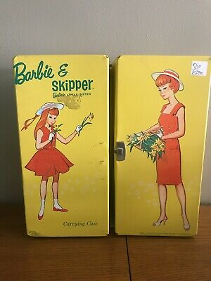 $ CDN35.30 • Buy Vintage Barbie And Skipper Carrying Case Yellow 1964