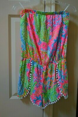 $89.99 • Buy  LILLY PULITZER STRAPLESS COLORFUL PRINT  DAISY ROMPER, Sz Med