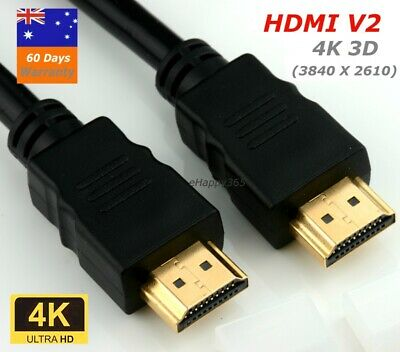 AU5.75 • Buy 4K HDMI V2.0 Cable For Full HD TV 2160P High Speed BluRay
