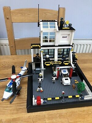 LEGO City Set:  7744 - Police Headquarters + Helicopter + Car + Bikes - Job Lot • 39.99£