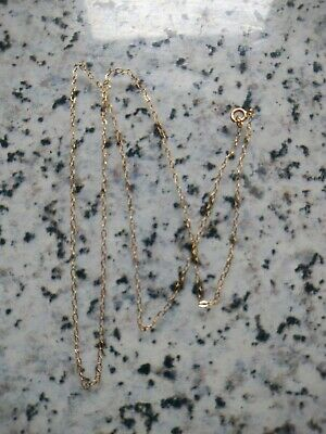 9ct Gold 16.25 Inch Trace Chain 0.82 Grams • 19.99£