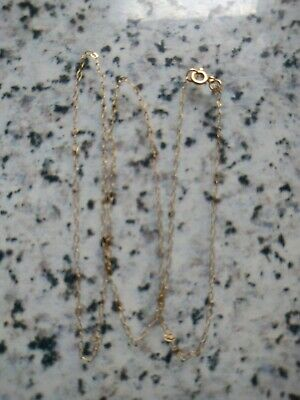 9CT Gold 16 Inch Trace Chain For Pendants 0.35 Grams • 14.99£