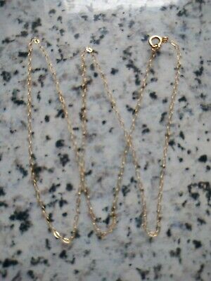9ct Gold 16 Inch Trace Chain 0.38 Grams Ideal For Pendants • 12.99£