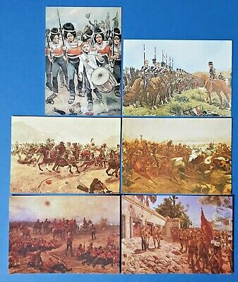 Set Of 6 Art Postcards Set No.14 Military Paintings Of Richard Caton Woodville • 4.19£