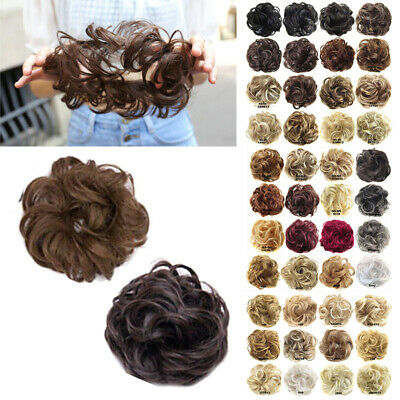 £2.39 • Buy Curly Messy Bun Hair Piece Scrunchie Updo Cover Hair Extensions Real As Human/
