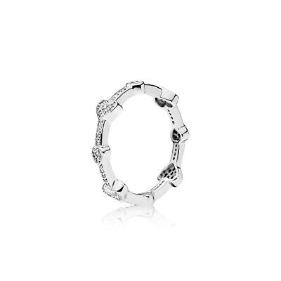 New Pandora Freehand Hearts Ring S925 ALE • 15.79£