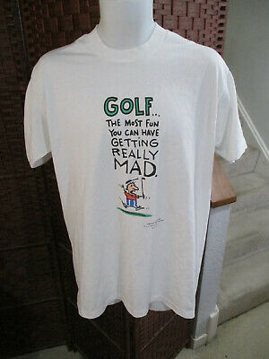 $ CDN20 • Buy Vintage 80's 90's Shoebox Greetings Funny Golf T Shirt Novelty Adult XL 50/50