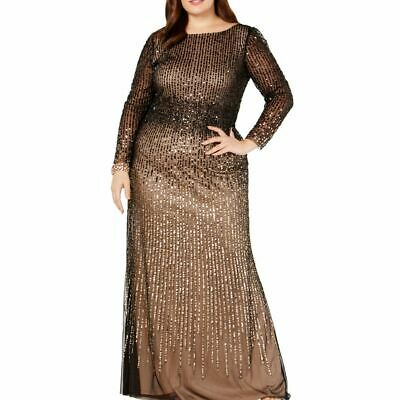 $124.99 • Buy ADRIANNA PAPELL Women's Plus Size Sequin-mesh Evening Ball Gown Dress 22W TEDO