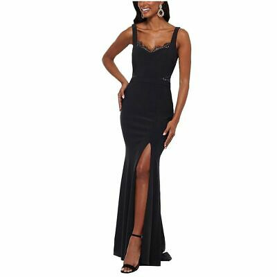 $59.99 • Buy XSCAPE NEW Women's Black Lace-detail Evening Party Ball Gown Dress 10 TEDO