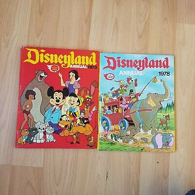 Disneyland Annual 1973 & 1978 Good Condition Stories Puzzles Vintage Memories  • 3.50£
