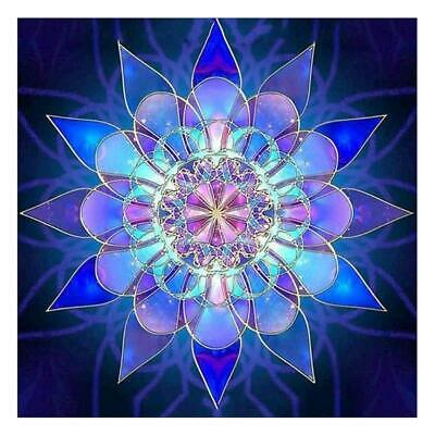 AU5.56 • Buy DIY Glowing Flower 5D Full Drill Diamond Painting Cross Stitch Kits