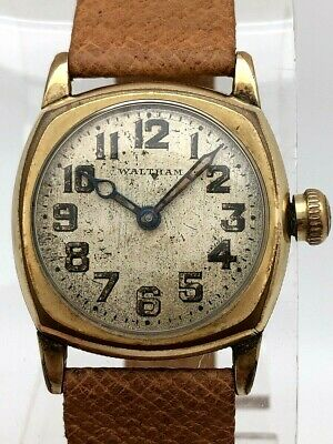 1920's WALTHAM MILITARY WWI TRENCH ORIGINAL DIAL BACK CASE R.D.M. ETCHING RUNS • 41.86£