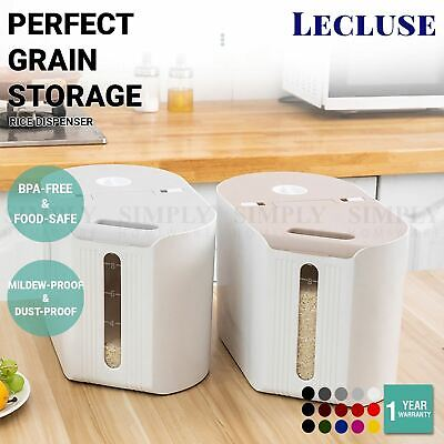 AU22.90 • Buy Lecluse Rice Dispenser Cereal Storage Box Spaghetti Noodle Container Sealed