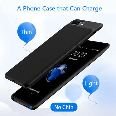 AU30.99 • Buy  For Apple IPhone XS 8 Plus 7 6 Ultra-Thin Power Bank Battery Backup Case Cover