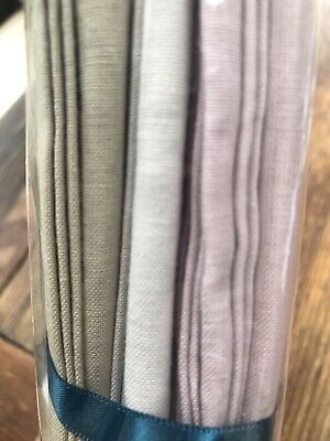 Sarah Raven French Cotton Napkins X 6 BNWT • 7.20£