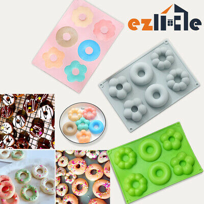 AU9.45 • Buy Silicone Mould Chocolate Donut Cake Muffin Baking Tray Ice Cube Mold Doughnut